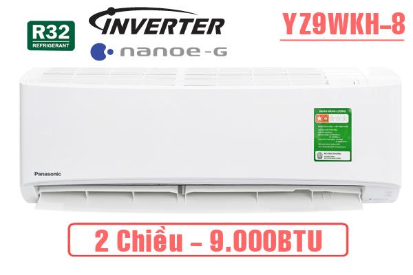 Panasonic CU/CS YZ9WKH-8 9000 BTU 2 chiều inverter tiêu chuẩn,Panasonic,Máy lạnh Panasonic 9000 BTU 2 chiều inverter tiêu chuẩn